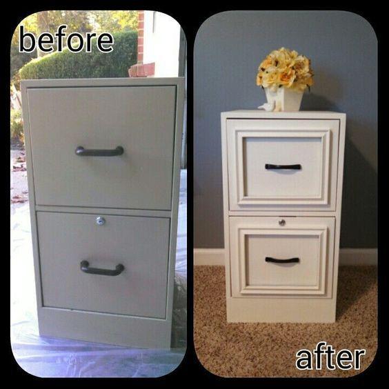 Retaper Un Vieux Classeur Pour Moins De 20 Diy Furniture File Cabinet Makeover Furniture Makeover