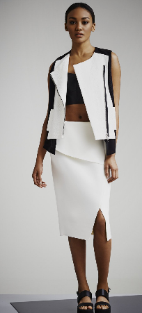 black and white ensemble