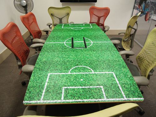 Sports Themed Table Vinyl Overlay Great For Any Themed