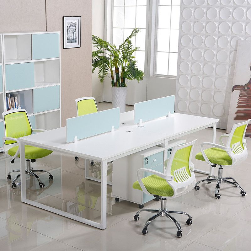 Wholesale Price Modern Commercial 4 Seater Office Furniture Frame Leg Office  Desk