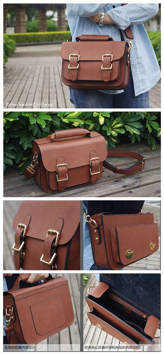 Custom Handmade Leather Satchel Bag, Briefcase Messenger Bag Shoulder Bag Men's Handbag D014