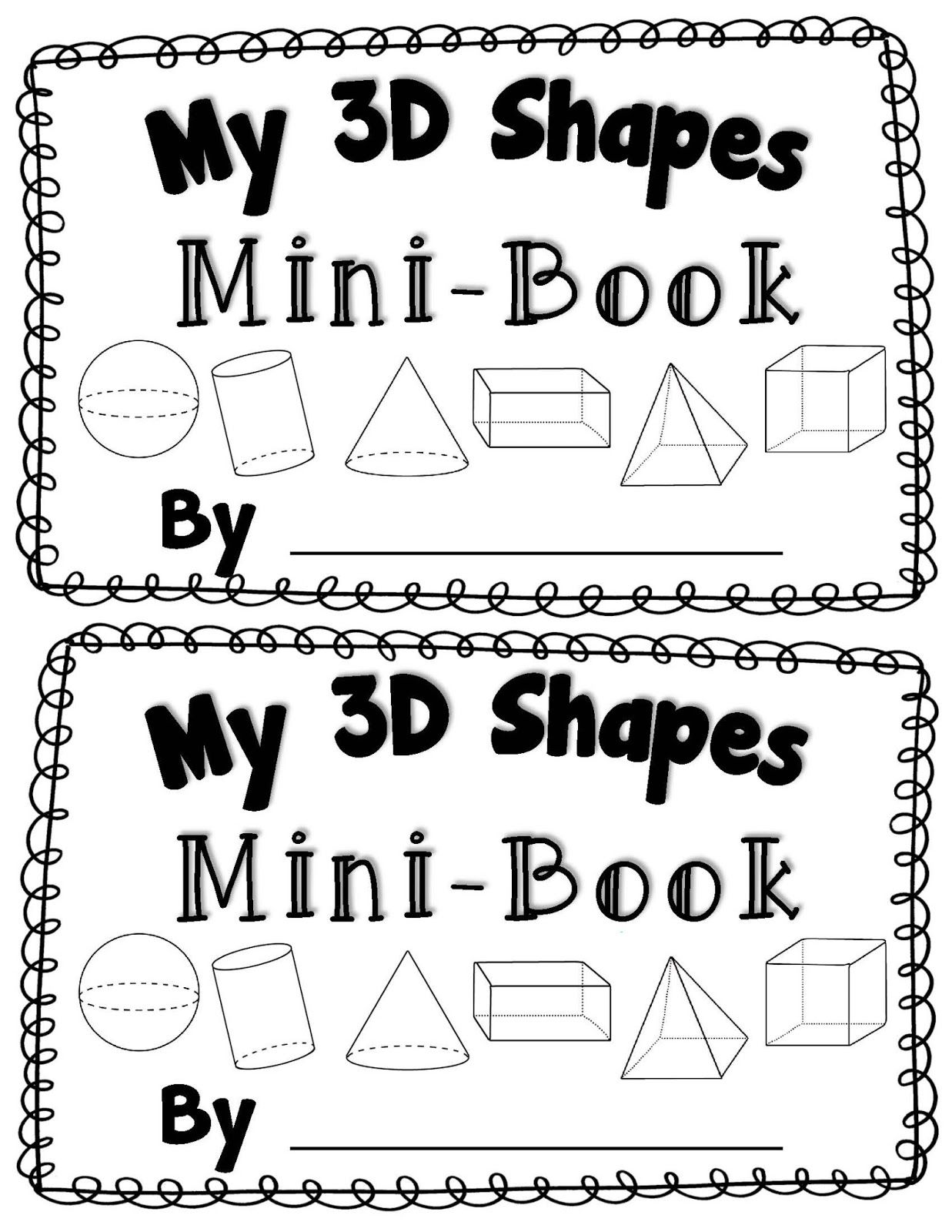 3D shapes books... The kindergarten blog looks like it would be worth ...