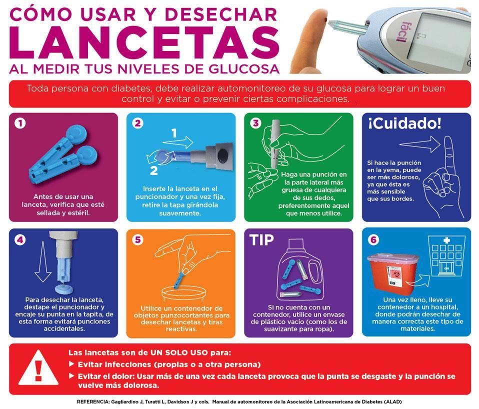 lancetas para diabetes como usar