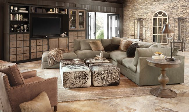 Living Pavo Sectional Arhaus Furniture Sofas