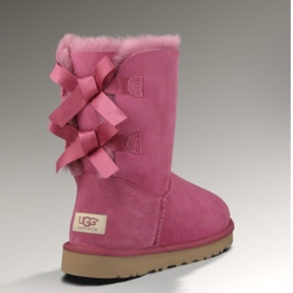 65b819cca3c UGG Shoes | Dusty Rose Bailey Bow Uggs! | Color: Pink | Size: 7 in ...