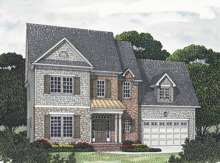 Traditional House Plan with 2799 Square Feet and 5 Bedrooms from Dream Home Source   House Plan Code DHSW65452