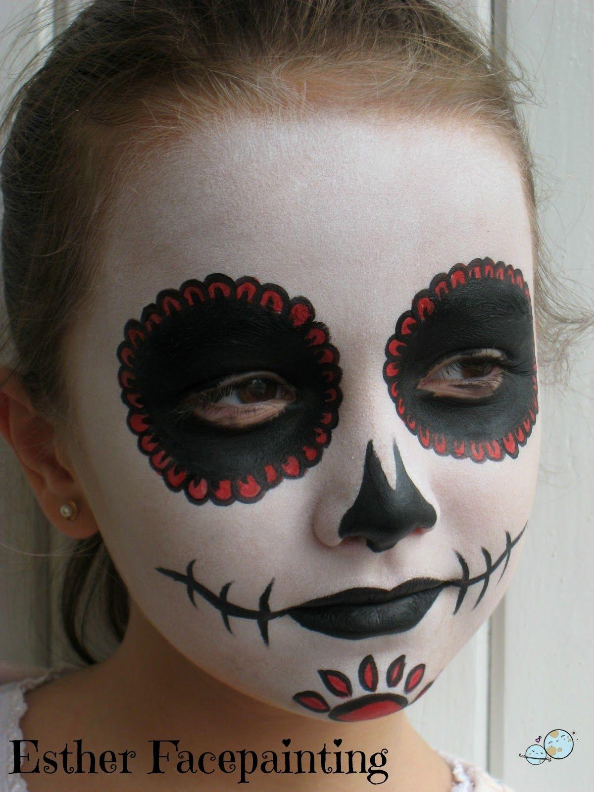 Maquillaje de halloween para ni os catrina maquillaje - Pinturas de cara para ninos ...