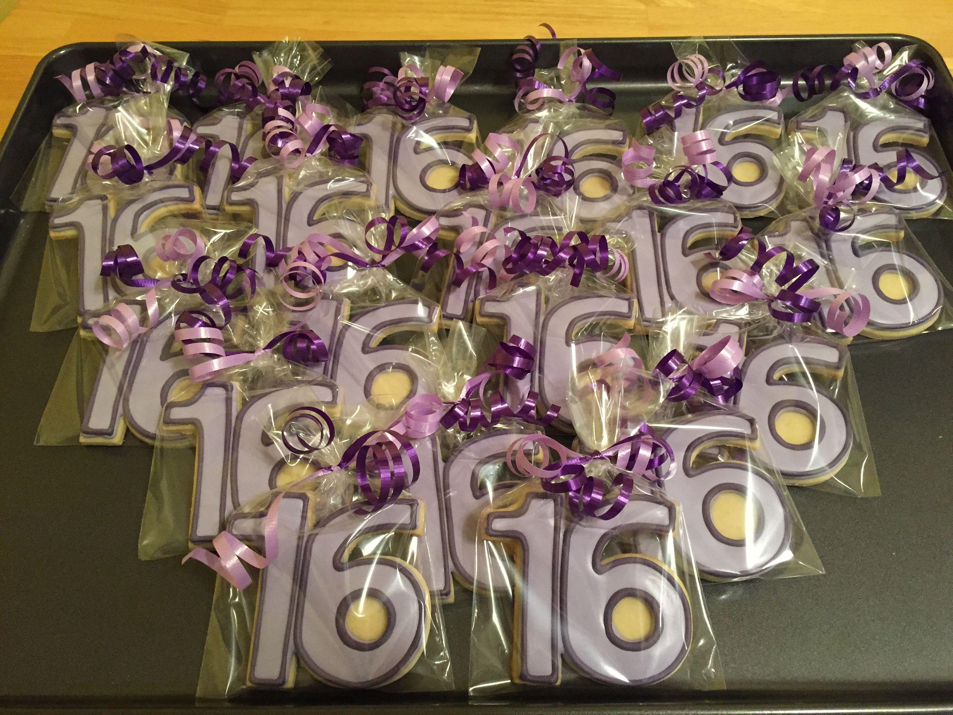 Purple Sweet 16 cookies | Sweet 16 decorations, Purple ...