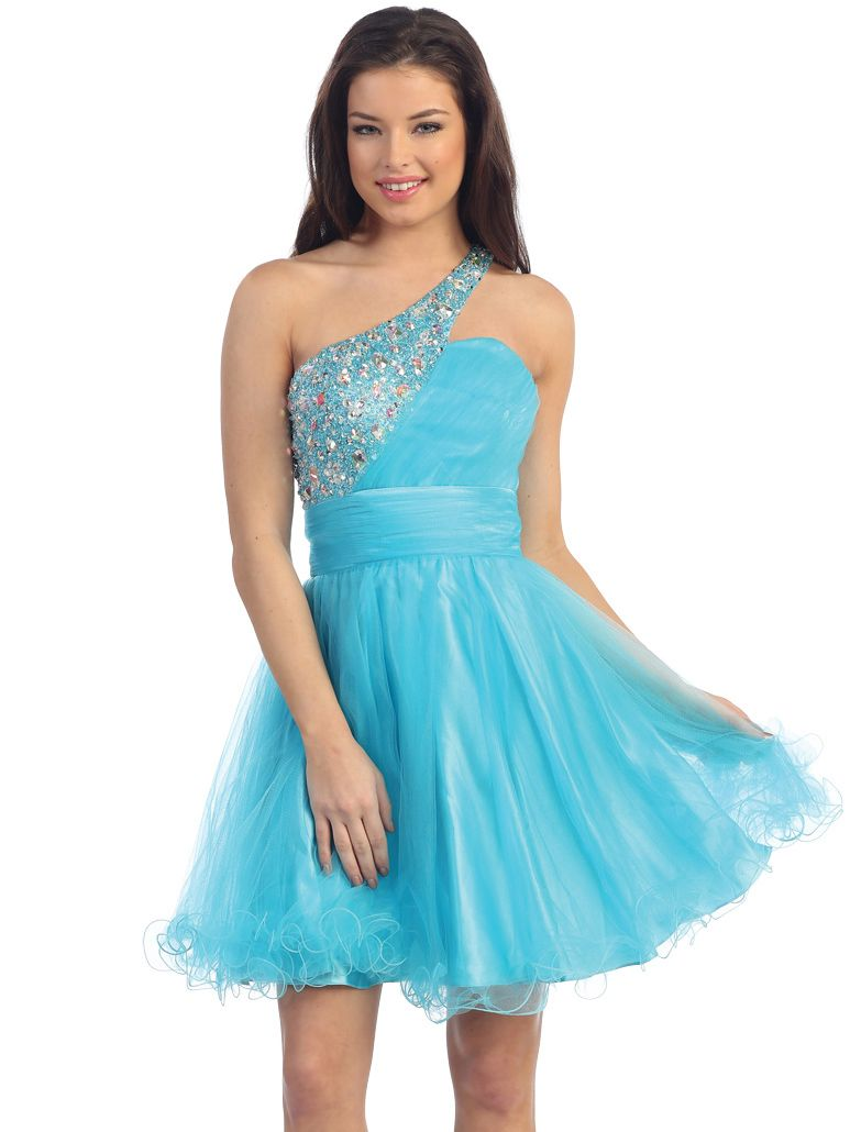 Jeweled One Shoulder Homecoming Dress | Homecoming Dresses 2014 ...