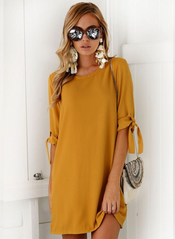 58d506f56fe Women s Fashion Half Sleeve Shift Mi...