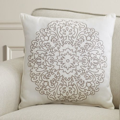 Found it at Wayfair - Staverton Embroidered Decorative Throw Pillow