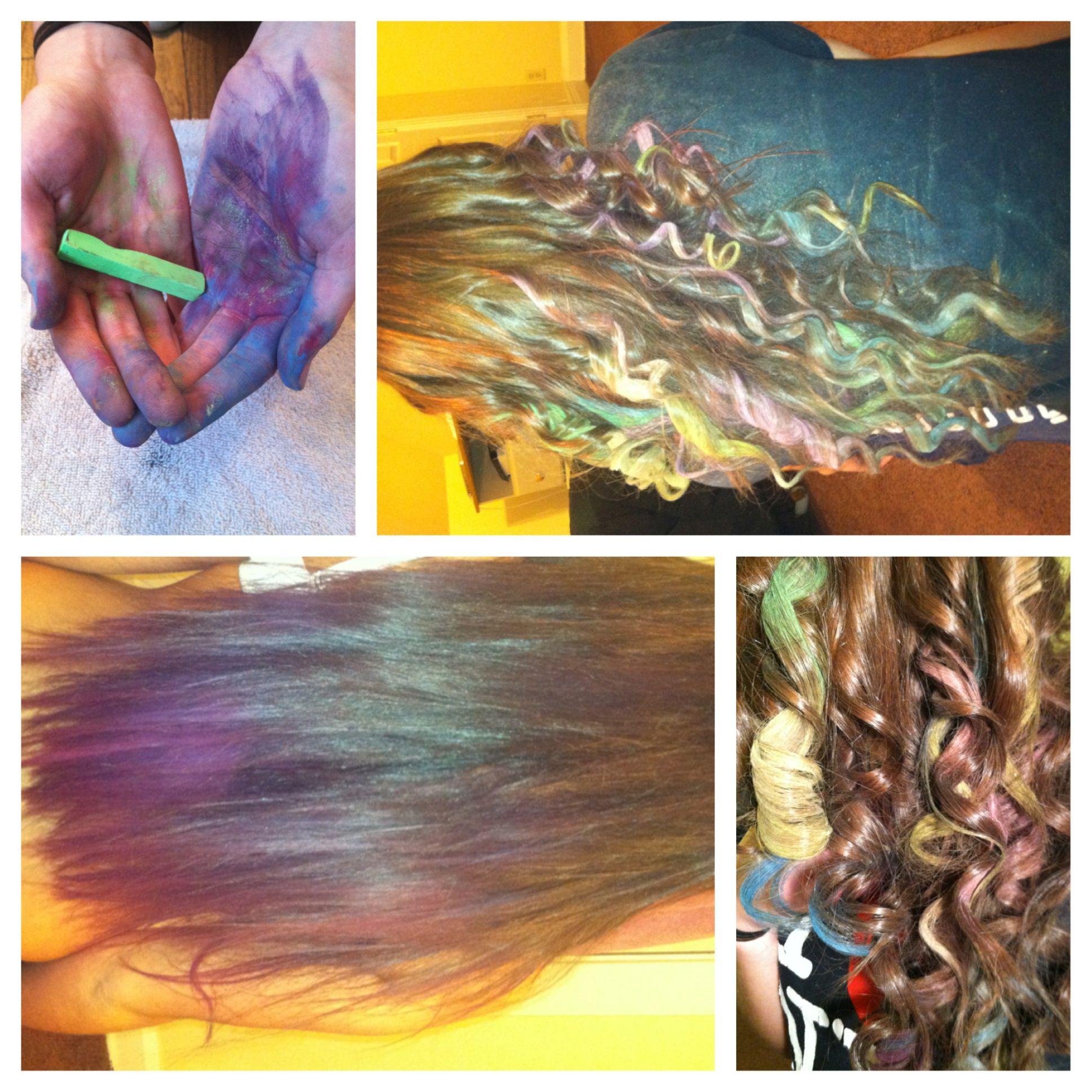#hair chalk #colorful #diy