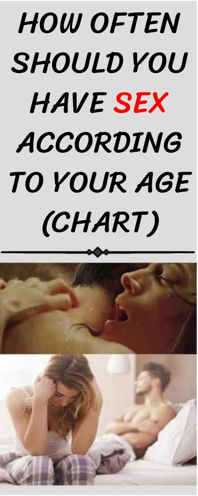 How much sex should you have, depending on your age