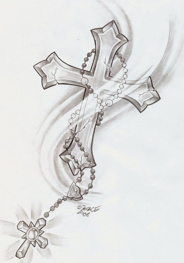 4b651f8aff1bd Cross chain design | Tattoo ideas | Cross tattoos for women ...