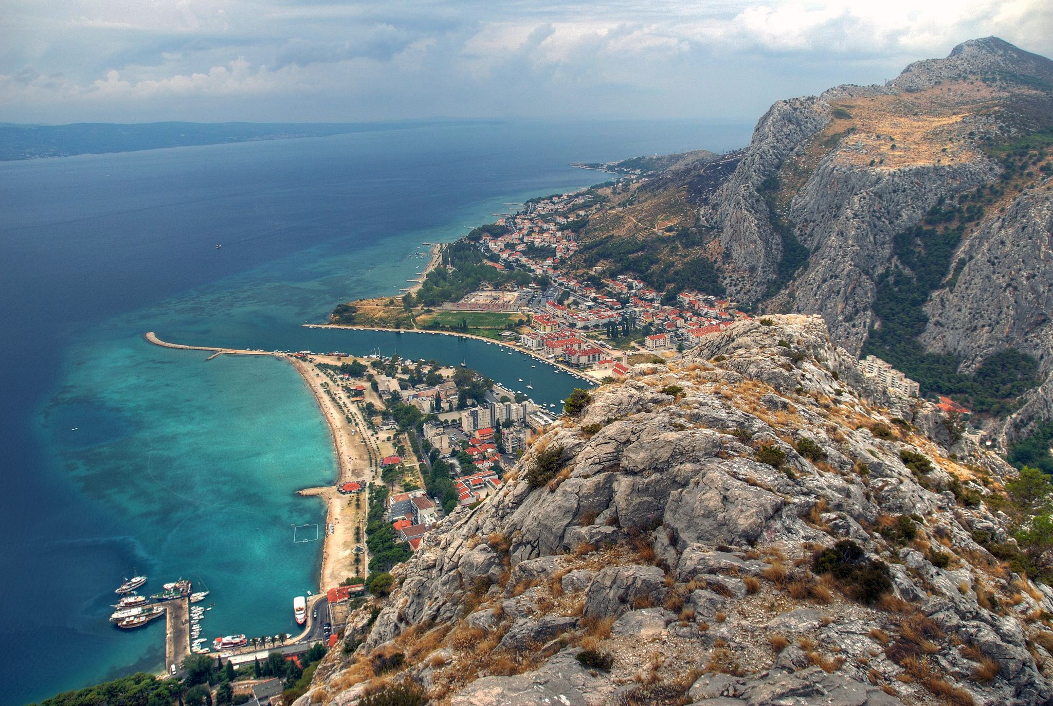 Omiš, Croatia. The picturesque town of Omiš is situated at