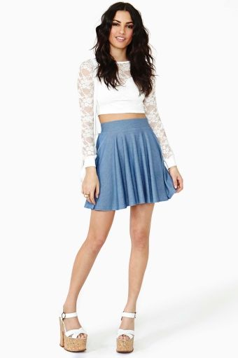 Marielle Lace Crop Top in Clothes Tops at Nasty Gal