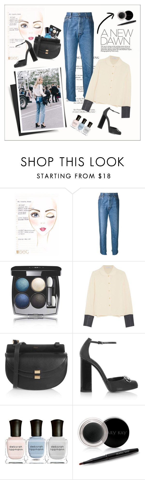 """""""LFW: A new dawn"""" by amaryllis ❤ liked on Polyvore featuring Vetements, Chanel, Sally Hansen, J.W. Anderson, Chloé, Gucci, Deborah Lippmann and Mary Kay"""