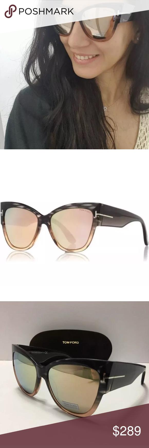 3acb88b7afa Tom Ford TF 371 Anoushka Mirror Sunglasses Cateye Regular Retail   420. Tom  Ford TF