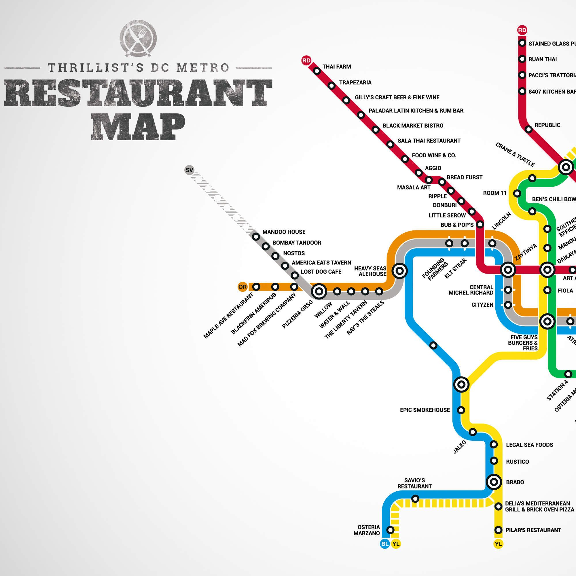 Your firstever DC Metro restaurant map Restaurants Washington dc