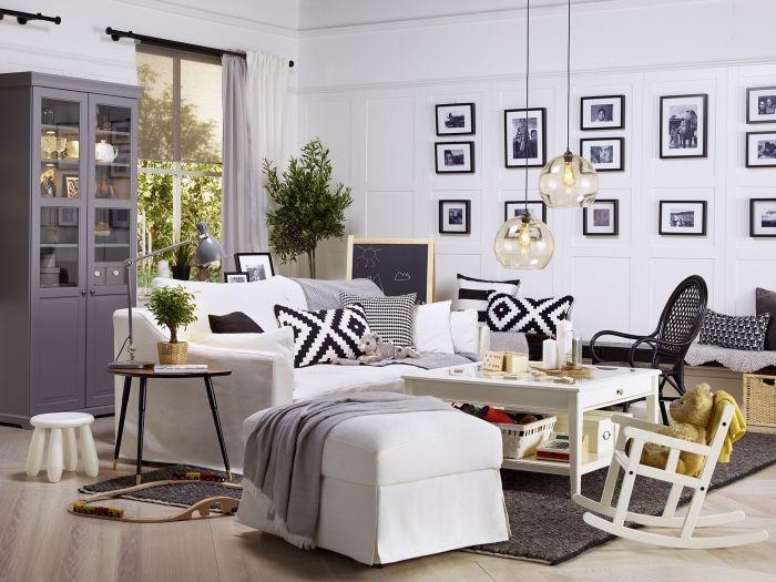 1001 id es d co salon cocooning de style hygge deco. Black Bedroom Furniture Sets. Home Design Ideas