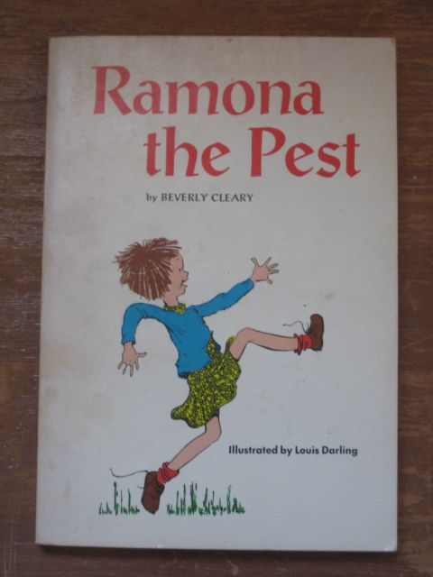 I loved this book when I was a kid. Ramona the Pest ~ Beverly Cleary Illustrated by Louis Darling