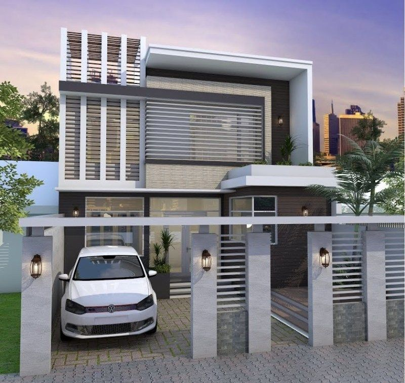 Modern Two Storey House Concept With 4 Bedrooms Cool House Concepts In 2020 Two Storey House New House Plans Villa Design
