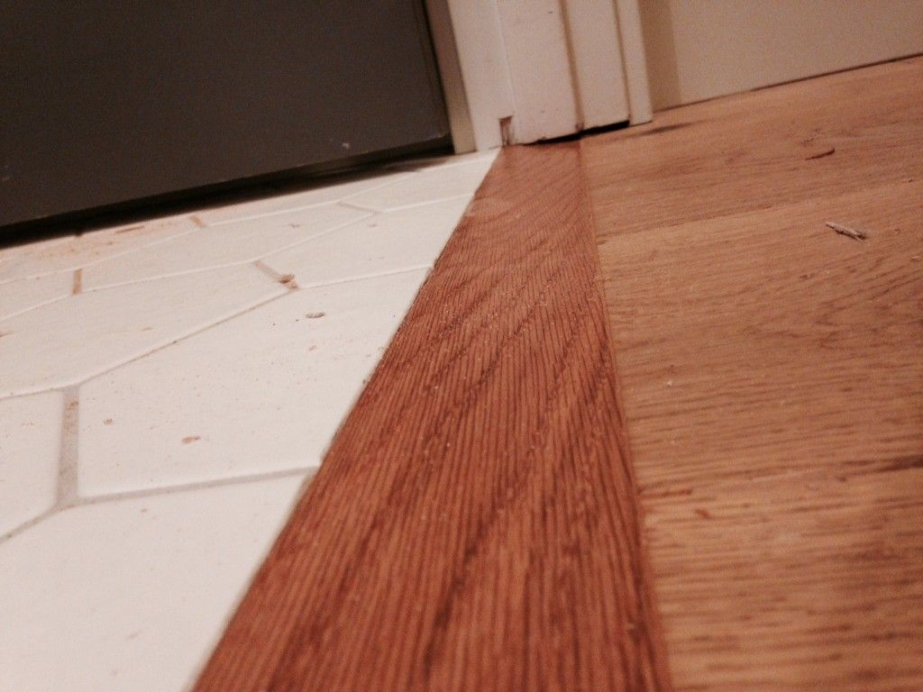 Transition Piece From Tile To Wood No T Molding Flooring