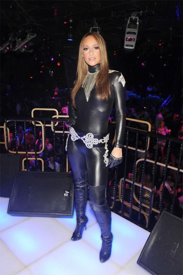 74518e787 Black Leather Catsuit worn By Kaci Battaglia. Buy your Catsuit for ...