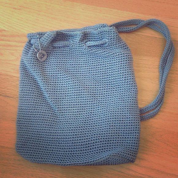 The Sak Knit Backpack In Light Gray
