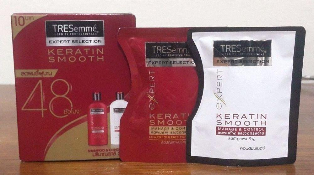 Tresemme Keratin Smooth Manage & Control Shampoo 30ml + Conditioner 30ml #TRESemme