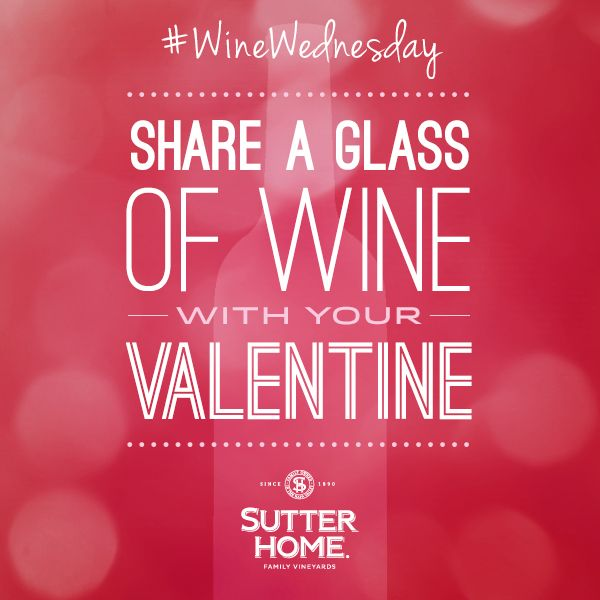 #WineWednesday is a great day to sneak in time with your Valentine.