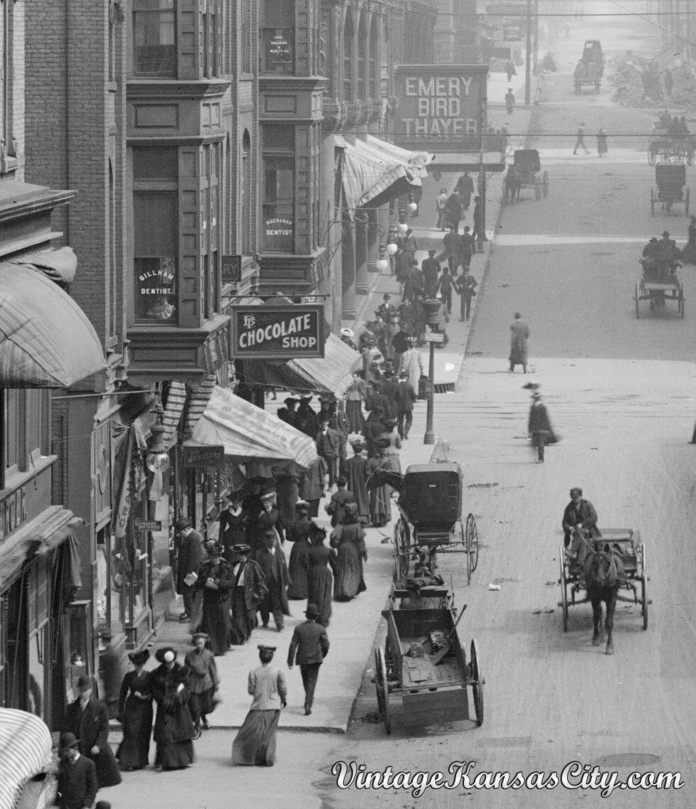 Shoppers On Petticoat Lane 1906 Kansas City Downtown Kansas City Kansas City Missouri