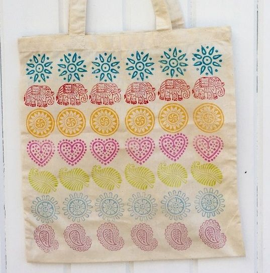 Indian Block Printed Tote Bag