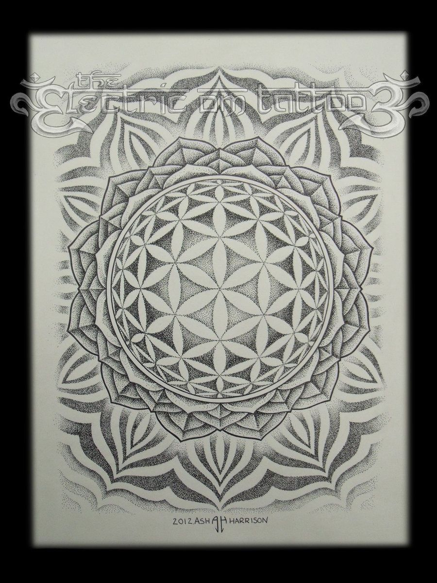 Flower Of Life Mandala 2012 By ~Ash Harrison On DeviantART   U003e Great Tools  For Light Workers.. Flower Of Life T Shirts, V Necks, Sweaters, Hoodies U0026  More ...