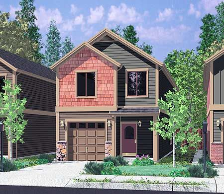 Plan 8133LB: Compact Townhouse in 2020 Narrow house