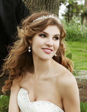 Brautfrisur Offen Mit Diadem Wedding 3 Pinterest Bridal Hair