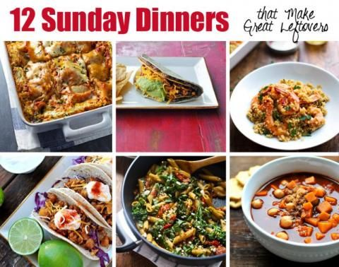 12 Sunday Dinner Recipes that Make Great Leftovers! | Nosh and Nourish