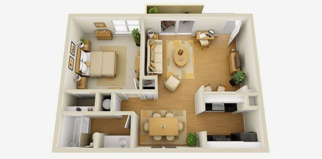 3d Small House Plans One Bedroom 2014 Planos De Casas Casas Minimalistas Modernas Casas