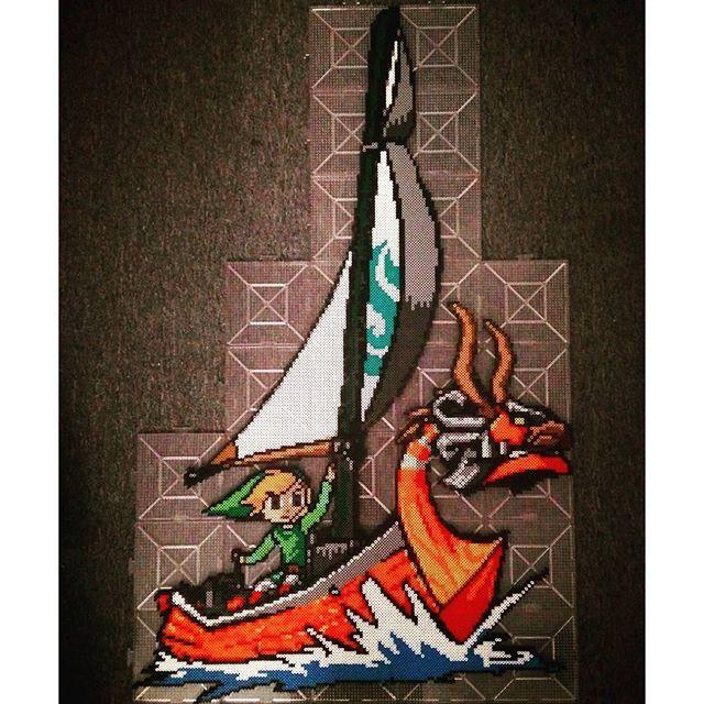 The Legend of Zelda: The Wind Waker perler beads by  optimusx51