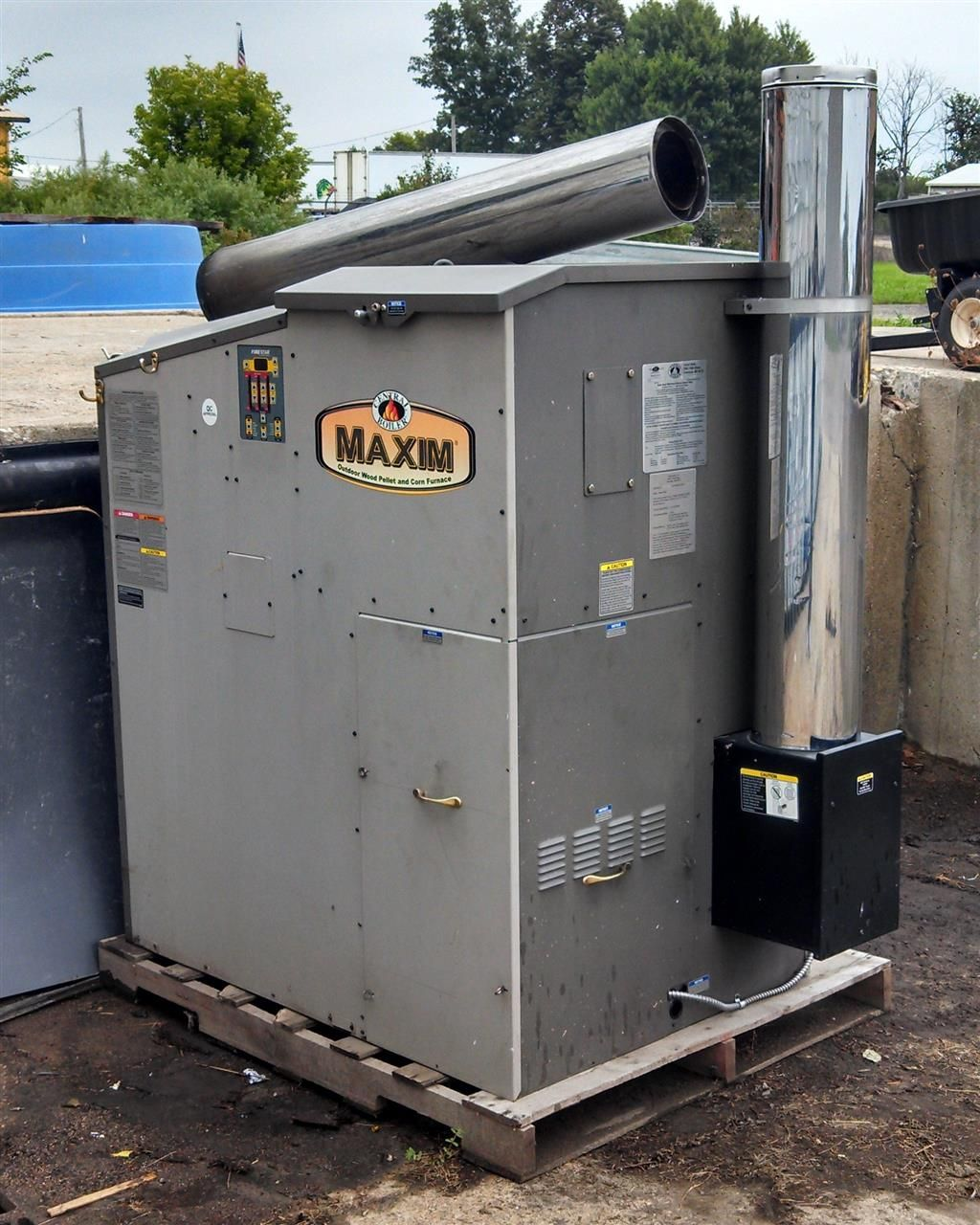 Maxim Outdoor Wood Pellet and/or Corn Furnace Hydronic ...