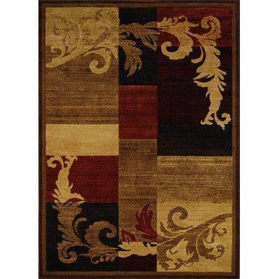Home Dynamix Catalina Light Brown Red Area Rug Size 7 10