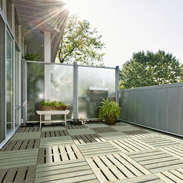 Dalle de terrasse en pin 40 x 40cm, ép24mm - CASTORAMA tuinhekje