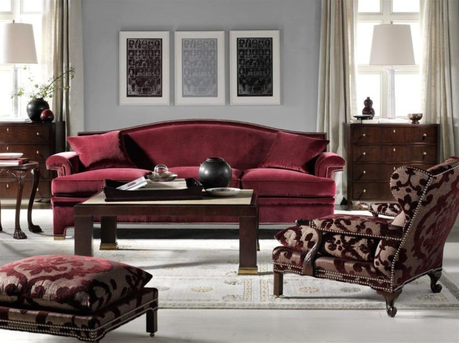 Burgundy And Grey Living Room With Maroon And Gray Living