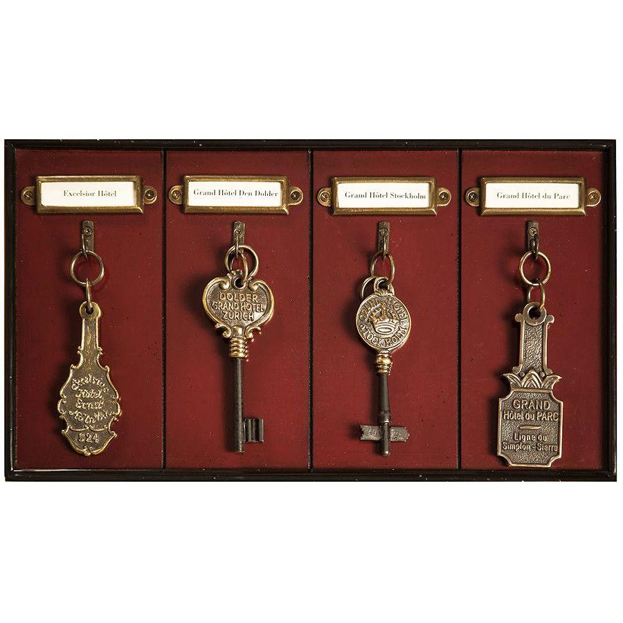 Vintage Luxury Hotel Key Rack Keys