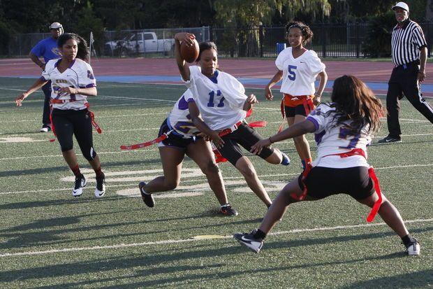 Karr Wins Second Consecutive Championship In Flag Football League For Girls Flag Football League Flag Football Sports Women