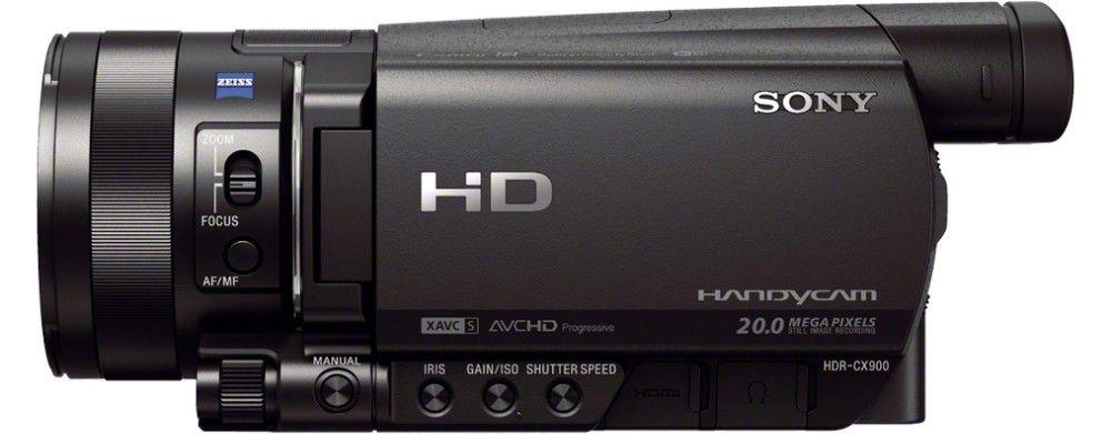 Sony Hdrcx900e Handheld Camcorder 20mp 1 0 Type Back Illuminated Exmor R Cmos Sensor Full Hd Black Camcorder Cmos Sensor Sony