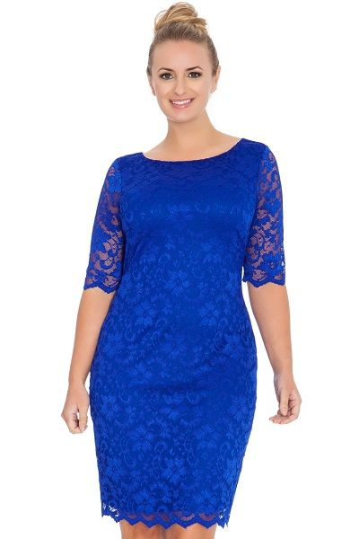 PLUS SIZE RANGE AIDEEN ROYAL BLUE LACE DRESS | In Case a Wedding ...