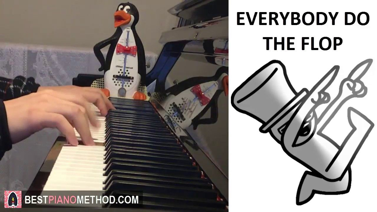 EVERYBODY DO THE FLOP - asdfmovie 6 Song (Piano Cover by