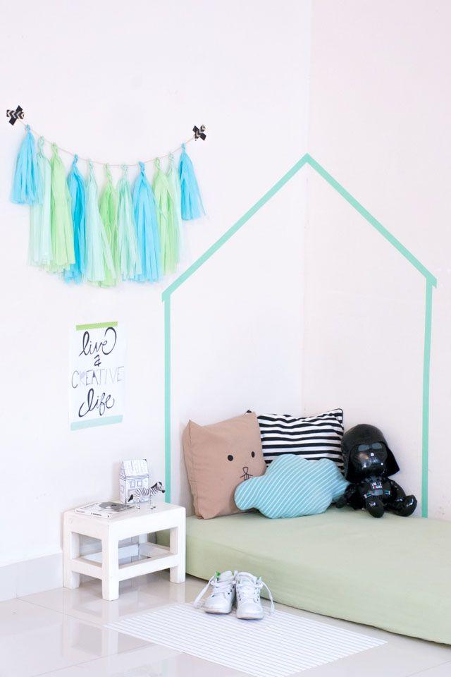 Dale vida a tus paredes con cinta washi ideas sencillas y econ micas para decorar las paredes - Paredes economicas ...