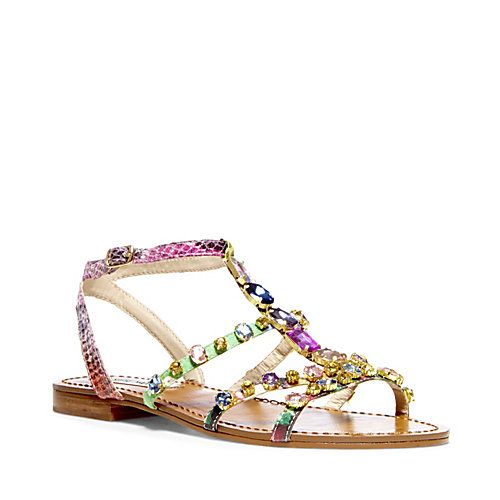 98511222eb0be BJEWELED BRIGHT MULTI women's sandal flat ankle strap - Steve Madden ...